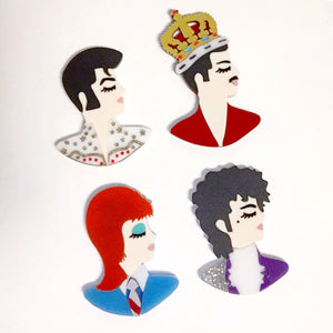ROCK ICONS Profile brooches (limited edition)