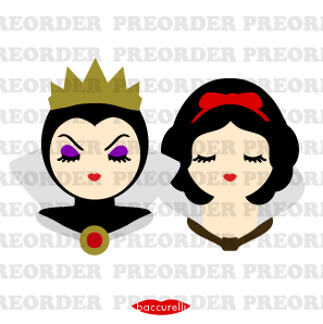 Pre-Order - Wicked Queen and Snow White brooch set (2)