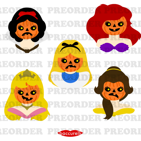 Pre-order - Valley of the Pumpkins princess brooches (individual brooches)