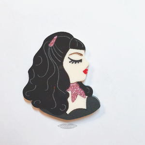 Chiffon Babes Mini Profile brooch