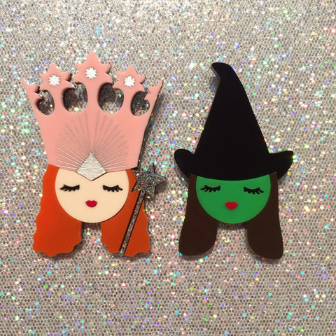 PRE-ORDER - Witches brooch set