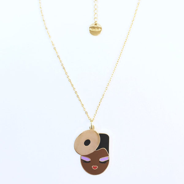 Grace enamel pendant necklace