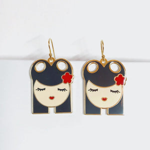 Ava enamel earrings