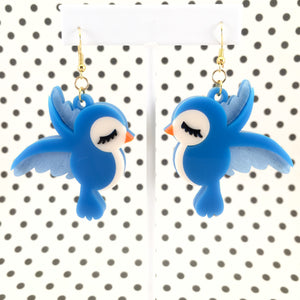 Bluebirds earrings