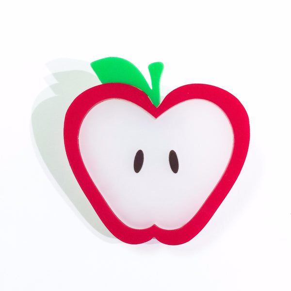 Apple-a-day brooch