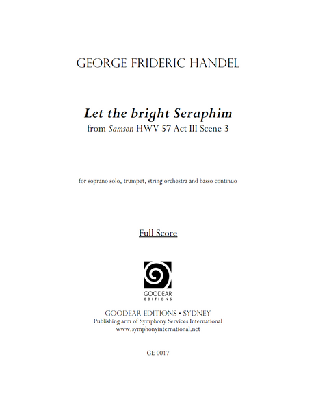 HANDEL, G. - Samson: Let the bright Seraphim (digital edition)