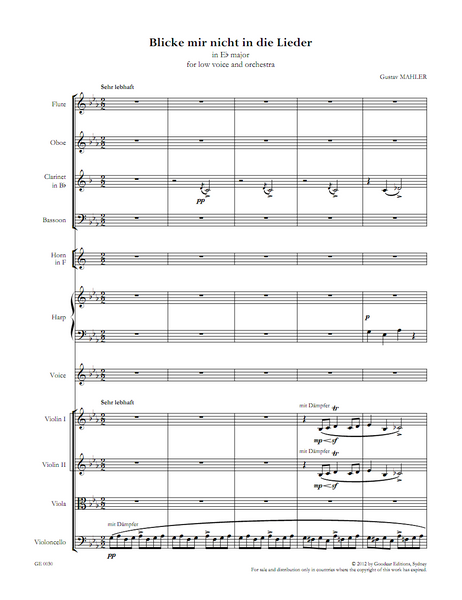 Song cycles by Gustav Mahler