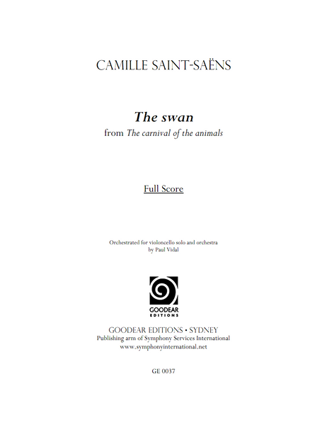 SAINT-SAËNS, C. orch. VIDAL, P. - The Swan (digital edition)