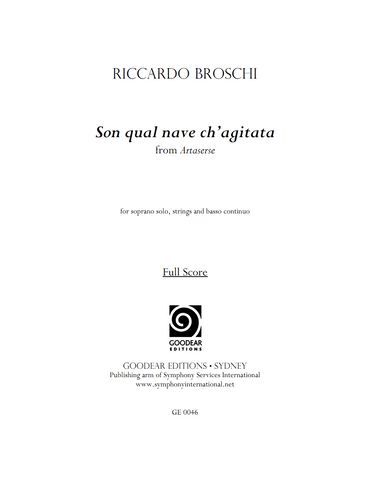 BROSCHI, R. - Son qual nave ch'agitata (digital edition)