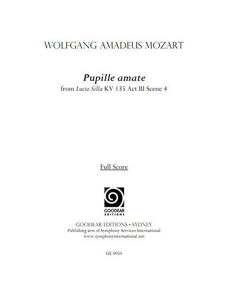 MOZART, W. - Pupille amate (digital edition)