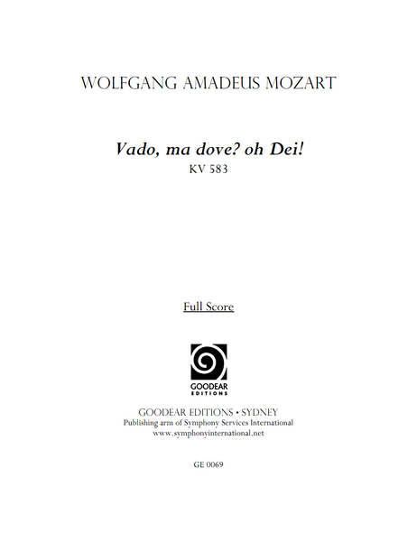 MOZART, W. - Vado, ma dove? oh Dei! (digital edition)