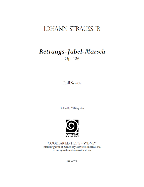 STRAUSS II, J. - Rettungs-Jubel-Marsch (digital edition)