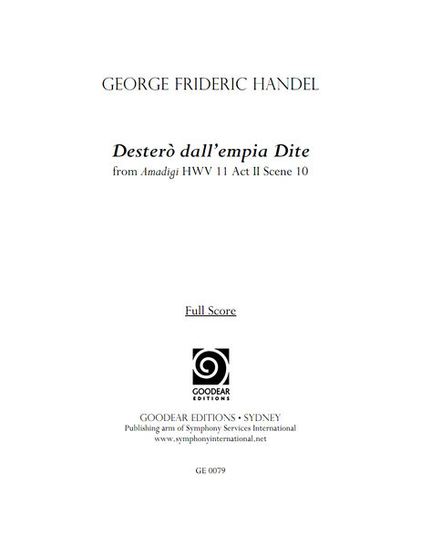 HANDEL, G. - Amadigi: Desterò dall'empia Dite (digital edition)