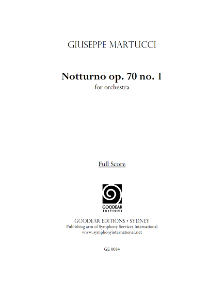 MARTUCCI, G. - Notturno op. 70 no. 1 (digital edition)