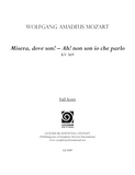 MOZART, W. - Misera, dove son! (print edition)