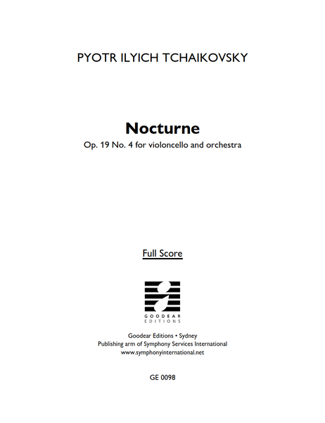TCHAIKOVSKY, P. - Nocturne Op. 19 No. 4 (digital edition)