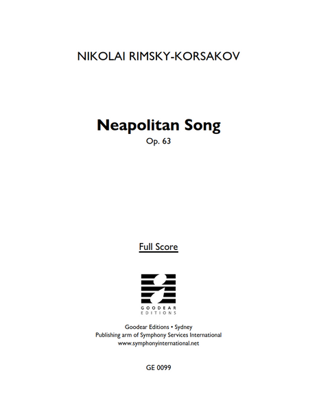 RIMSKY-KORSAKOV, N. - Neapolitan Song (digital edition)