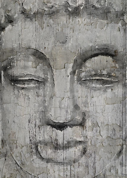 "Buddha, Inner Peace 2. Large Rustic Buddha Canvas Art Print  up to 60"", Large Ru"