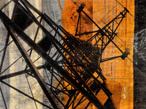 High-voltage tower. Canvas Print by Irena Orlov 40x30""