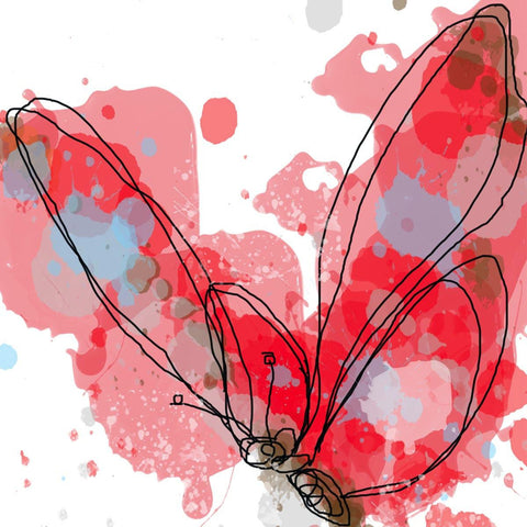 Red Butterfly by Irena Orlov. Giclee Print 20 x 20""