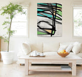 Simply Radiant. Extra Large Vibrant Colors Abstract Contemporary Canvas Print Wa