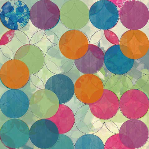 Geometric Circles Abstract 3094-7 Large Abstract Canvas Art, Abstract giclee, ge