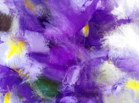 "Abstract Purple Flowers. Canvas Print by Irena Orlov 24"" X 36"