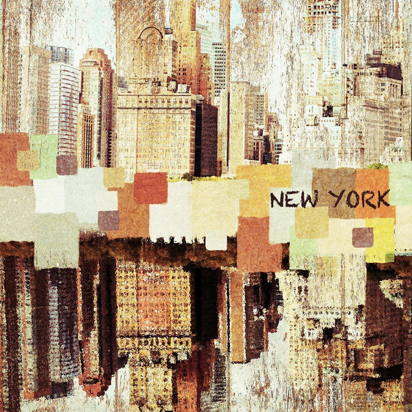 Colorful New York. Canvas Print by Irena Orlov 16X16""
