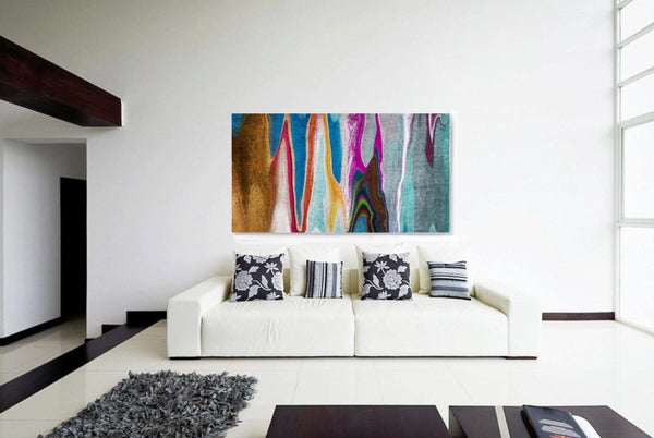 "40 X 60""  4599X9 Abstract Rhythms NO 36. Canvas Print by Irena Orlov"