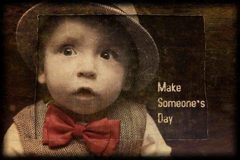 Make someone's day.  Irena Orlov, Large Canvas Print, Large Quote Canvas Print,