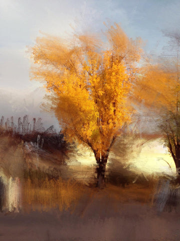 "Gold Branch. Canvas Print by Irena Orlov 24"" X 36"