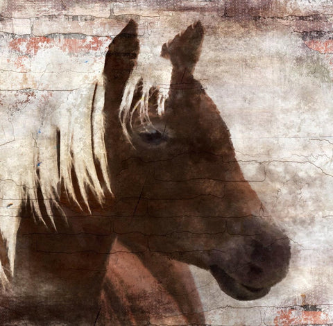 "The Indigo Horse 2, Canvas Print by Irena Orlov up to 48"" , large horse canvas p"