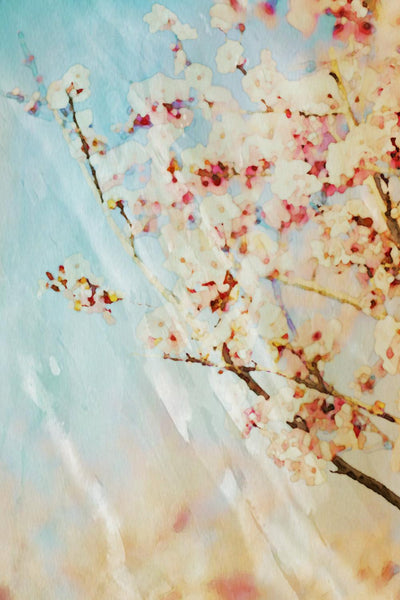 Large Landscape Pictures, blooming tree, landscape art, green tree, tree art, sp