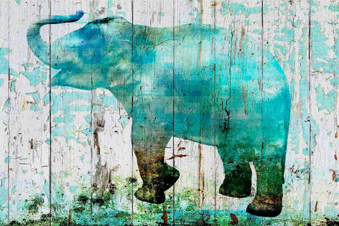 Blue Elephant. Canvas Print by Irena Orlov 24x36""