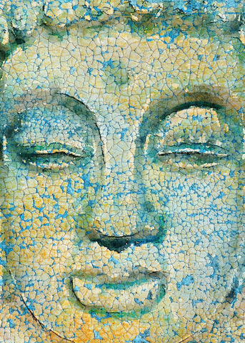 "Buddha, Inner Peace 1. Large Rustic Buddha Canvas Art Print  up to 60"", Large Ru"