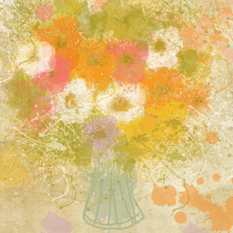 Colorful Joy canvas Art, large wall art, flower canvas art print, fine art print