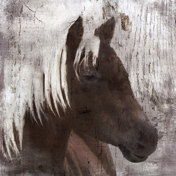 "The Indigo Horse Canvas Print by Irena Orlov up to 48"" , large horse canvas prin"