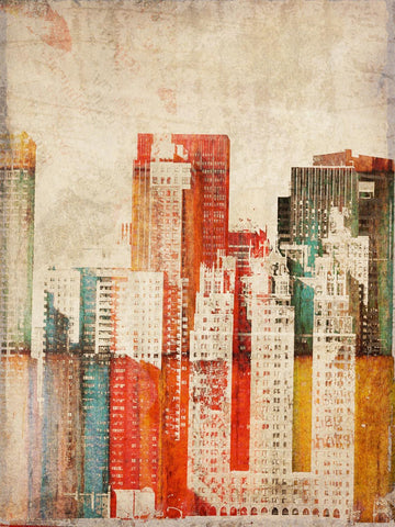 "Buildings of New York City. Canvas Print by Irena Orlov 24x36"", large canvas art"