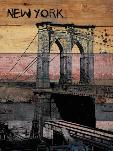 "Old Brooklyn Bridge. New York Extra Large Canvas Art Print up to 72"", New York W"