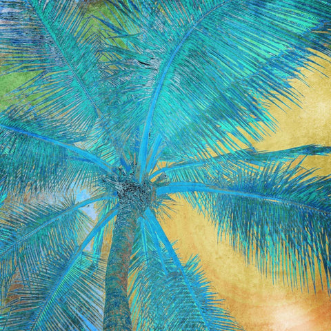 4 Palm Tree Sunset. Palm Trees, tropical canvas print by Irena Orlov