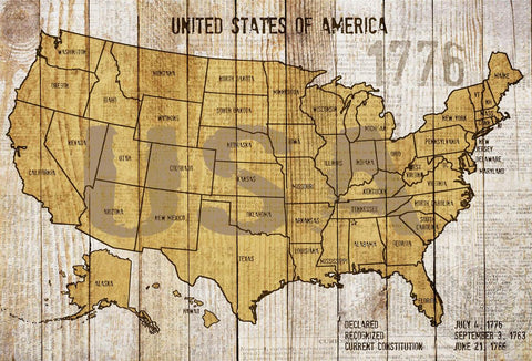"Map of USA 2. Canvas Print by Irena Orlov 24"" X 36"""