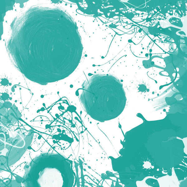 "Aqua. Canvas Print by Irena Orlov 40"" x 40"", large abstract canvas print, colorf"