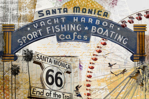 Santa Monica Pier. Canvas Print by Irena Orlov 24x36""