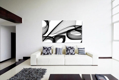 Abstract Black and White 22-21-27 Canvas Print by Irena Orlov