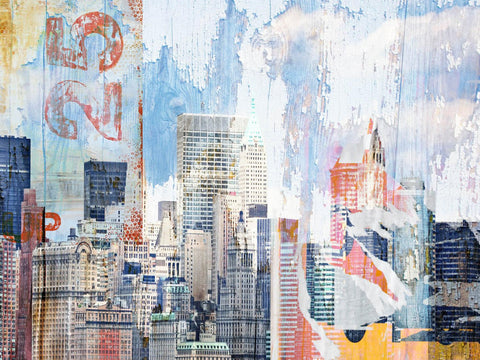 New York, Collage. Canvas Print by Irena Orlov 40x30""