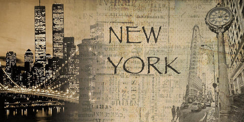 "New York. Canvas Print by Irena Orlov 40"" x 20"", large canvas art print, wall ar"