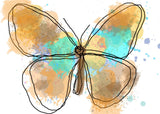 "Butterfly 590 Canvas Print by Irena Orlov 20X16"" ,large butterfly canvas print,"