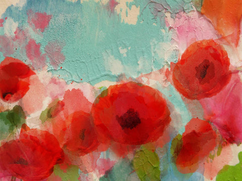 Fresh Air Poppies.  Canvas Print by Irena Orlov 24x36""