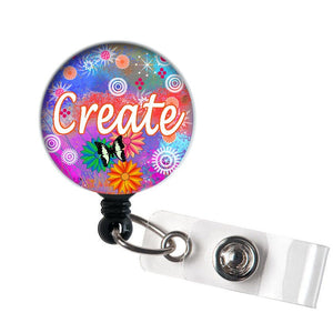 Create - Retractable ID Badge Reel - Alligator Swivel Clip ID Badge Holder - Nurse Gifts Badge Clips - Best Gift Idea