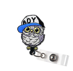 Cute Owl Felt Retractable ID Badge Reel Alligator Swivel Clip ID Badge Holder - Teacher Nrse Doctor Coworker Gifts Idea